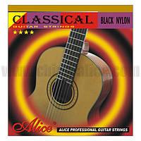 Струны для классической гитары Alice A105BK-Н черный нейлон/серебро