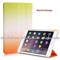 Чехол Smart Case для IPad 2/3/4 радуга оранжевый/зеленый