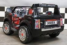 Детский Электромобиль Bambi Двухместный Джип Land Rover 205 черный на радиоуправлении, фото 2