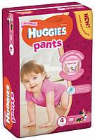 HUGGIES трусики размер: 4 (9-14 кг) 36 шт/уп для девочек, фото 1