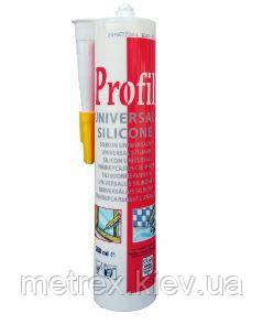 Герметик силикон универсальный белый PROFIL Soudal, 280 мл.