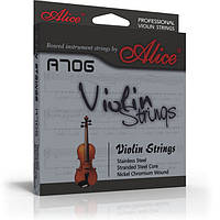 Струны для скрипки Alice A706 никель