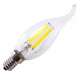Лампа Right Hausen LED Filament свеча на ветру 6W E14 4000