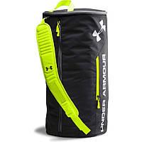 Спортивная сумка-рюкзак UNDER ARMOUR Isolate Duffel Bag черный\ салатовый