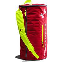 Спортивная сумка-рюкзак UNDER ARMOUR Isolate Duffel Bag красный\ салатовый
