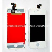 Оригинальный Дисплей iPhone 4S белый (LCD экран, тачскрин, стекло в сборе)