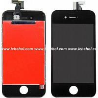 Оригинальный Дисплей iPhone 4S черный(LCD экран, тачскрин, стекло в сборе)