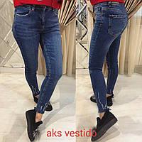 Женские синие джинсы скинни (Турция)