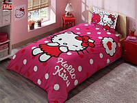 Постельное белье Tac Disney Hallo Kitty Pink подростковое полуторного размера