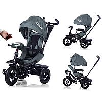 Велосипед-коляска с поворотным сиденьем, надувные колеса TILLY CAYMAN T-381 Серый ***