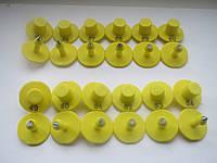 Ушные бирки круглые 30мм (желтый)