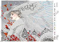 """Схема для частичной вышивки бисером """"Сніжна пані"""" в розницу и оптом, Винница"""