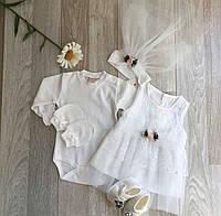Нарядное платье для крещение Bebetomy