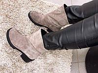 3040 (на байке) Код 3040-1 (на меху) Ботинки с декоративной строчкой. Натуральная замша. Возможен отшив на ба
