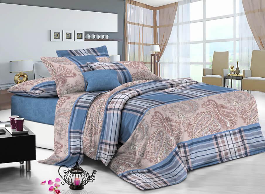 Півтораспальний постільний комплект - Нова шотландка