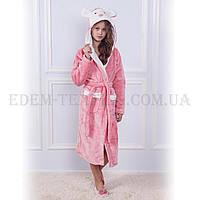 Халат детский для девочки с капюшоном Sofi Soft 10822