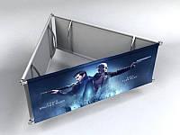 Подвесной рекламный дисплей (треугольник), 1,5х0,8 мм (Состав: Конструкция и полотно с печатью;  Сумка-чехол: Конструкция без сумки;), фото 1