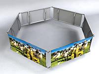 Подвесной рекламный дисплей (шестигранник), 1,5х0,8 мм (Состав: Конструкция и полотно с печатью;  Сумка-чехол: Конструкция без сумки;)