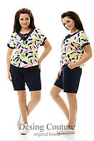 Женский летний комбинезон с шортами большого размера