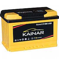 Аккумулятор KAINAR Standart+ 75Ah, левый (+)