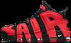 Мужские кроссовки Nike Air More Uptempo 96 Найк Аир Аптемпо красные