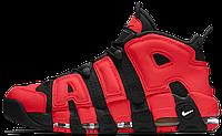 Мужские кроссовки Nike Air More Uptempo 96 Найк Аир Аптемпо красные, фото 1