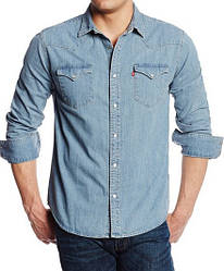 Джинсовая рубашка Levis Barstow Western  - Light Stonewash (5XL)
