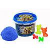 Игровой кинетический песок с ароматом черники, в ведре 500 г, с аксессуарами, Magik sand