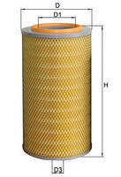 Елемент фільтруючий повітряний КамАЗ Евро-1 (ФВ 155-1)   7405-1109560-02 L=460 D=257 Dвн.=150 (Україна)
