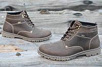 Мужские зимние спортивные ботинки натуральная кожа коричневые, матовые Харьков (Код: 939а). Только 42р!