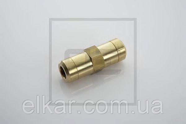 З'єднувач аварійний  пневматичний прямий Ø  8 мм  (латунь) DT 9.85908 (вир-во Туреччина)