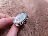 Рубин в фуксите кольцо с камнем рубин в фуксите. Природный рубин в серебре 17,5-18 размер Индия!, фото 5