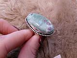 Рубин в фуксите кольцо с камнем рубин в фуксите. Природный рубин в серебре 17,5-18 размер Индия!, фото 6