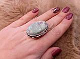 Рубин в фуксите кольцо с камнем рубин в фуксите. Природный рубин в серебре 17,5-18 размер Индия!, фото 3