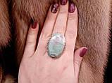 Рубин в фуксите кольцо с камнем рубин в фуксите. Природный рубин в серебре 17,5-18 размер Индия!, фото 2