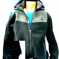 Спортивный тёплый натуральный костюм, турецкий, Соккер, тёмно-синий.