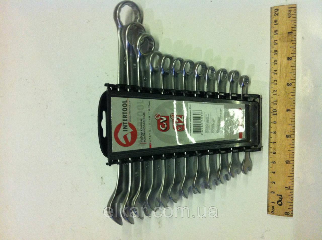 Набір ключів комбінованих 12 шт. 6-22 мм   НТ-1203