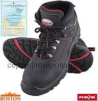 Ботинки рабочие мужские с металлическим подноском кожаные REIS Польша (спецобувь) BRBOSTON-T