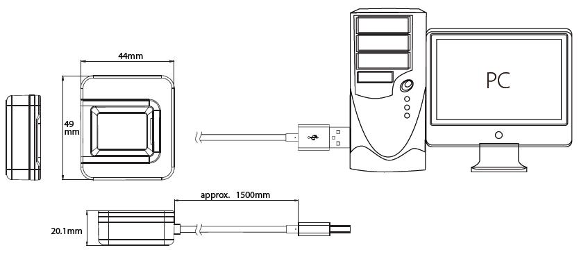 Подключение сканера отпечатков к компьютеру