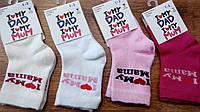 """Носочки стрейчевые для малышей""""Я люблю маму,я люблю папу"""",Турция 1-2 годика"""