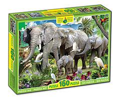 """Картонные пазлы """"Слоны"""", 160 частиц"""