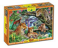 """Картонные пазлы """"Леопарды"""", 160 частиц"""