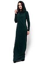 """Женское платье-кокон с небольшим капюшоном Фина темно-зеленое """"KR"""" S (42-44)"""