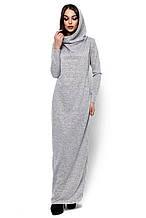 """Женское платье-кокон с небольшим капюшоном Фина серое """"KR"""" S (42-44)"""