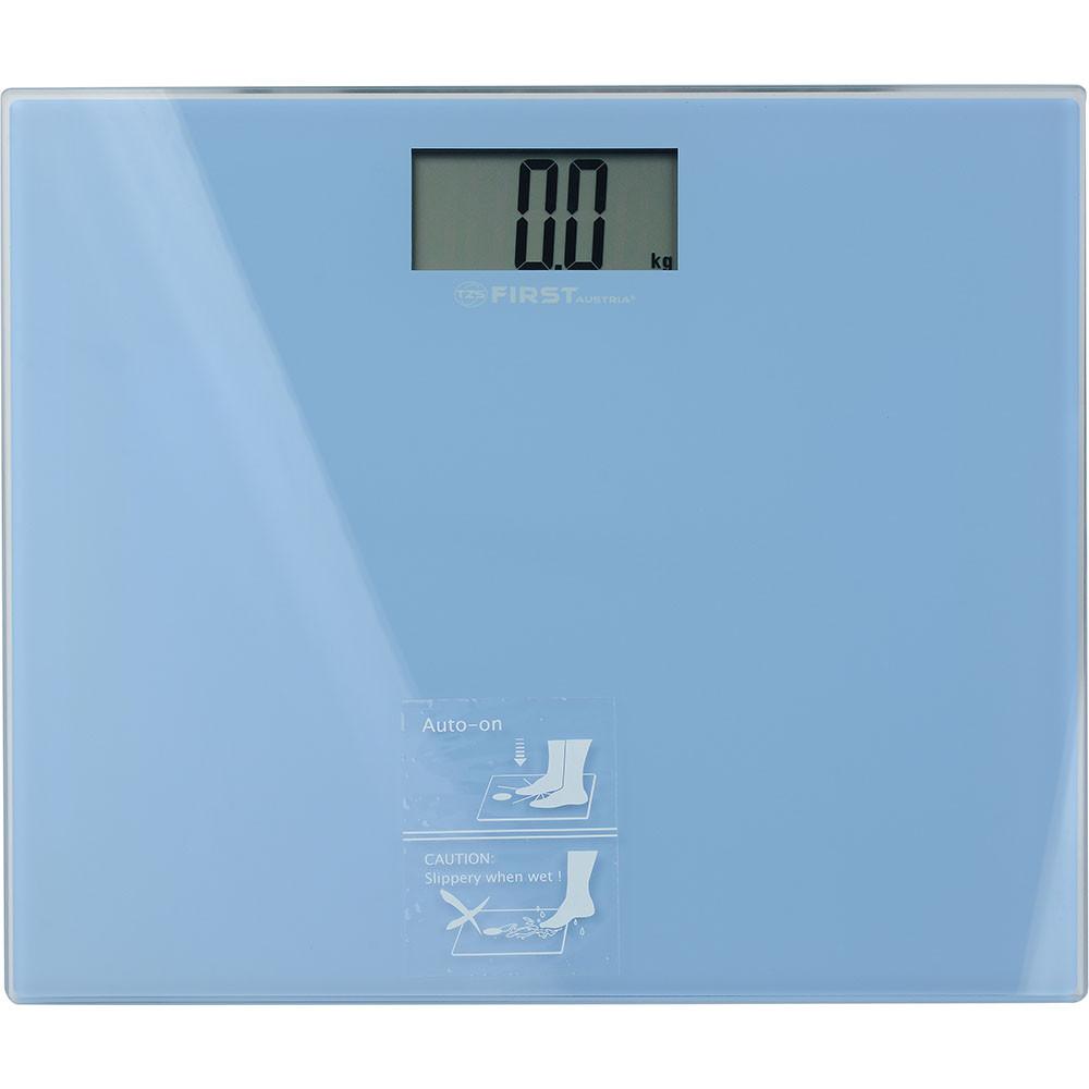 Бытовые напольные весы электронные для взвешивания человека до 150кг First FA-8015-2-BL