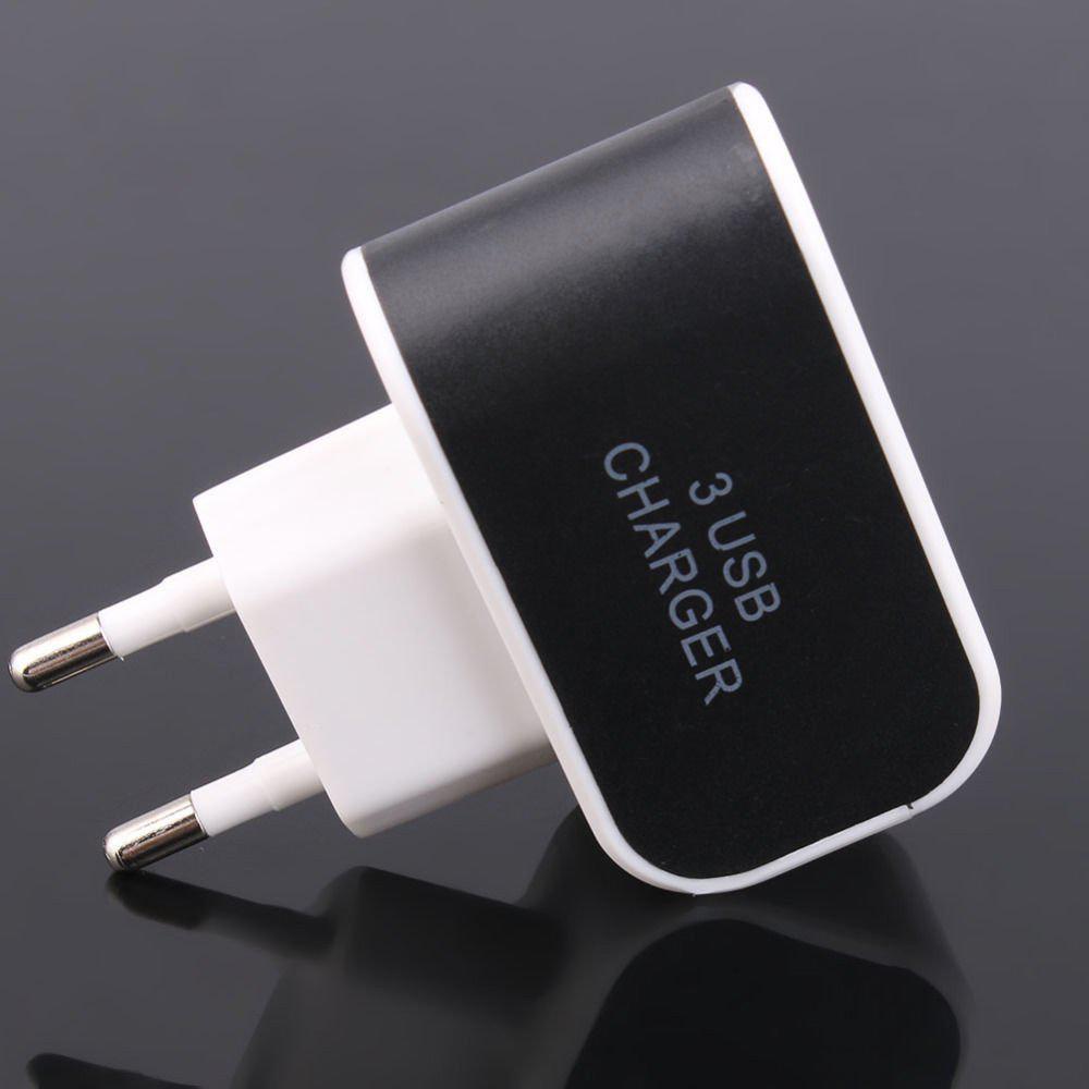 Универсальный Сетевой Адаптер Переходник 3 USB Charger