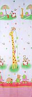 """Тюль в детскую """"Жираф"""" шифон розовый высота 2,9 м"""