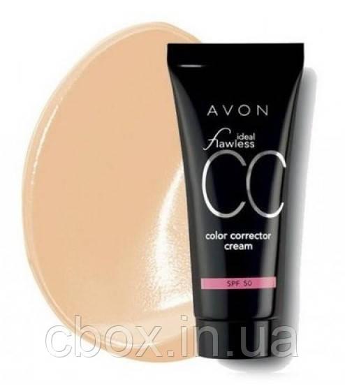"""Увлажняющий корректирующий крем с тональным эффектом """"Идеальный оттенок"""" SPF50, цвет Shell, CC Avon, Эйвон"""