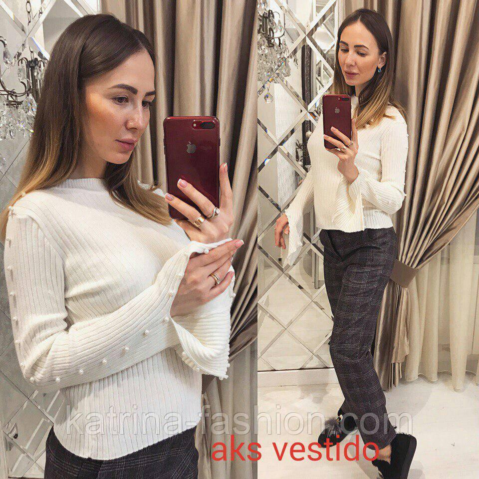 Женская стильная кофточка с жемчугом (Турция)(4 цвета)  продажа ... 0c1fdf4c90a