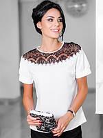 Женская шифоновая блузка большого размера